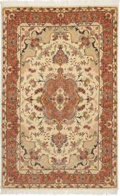 Tabriz 50 Raj Con Seta Tappeto 100X159 Orientale Fatto A Mano Marrone Chiaro/Marrone/Beige Scuro (Lana/Seta, Persia/Iran)