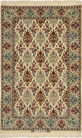 Isfahan Silk Warp Signed: Davari Rug 110X170 Authentic  Oriental Handknotted Dark Brown/Brown (Wool/Silk, Persia/Iran)