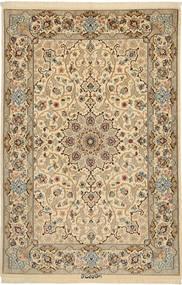 Isfahan Silk Warp Signed: Keiyani Rug 110X160 Authentic Oriental Handknotted Light Brown/Dark Beige (Wool/Silk, Persia/Iran)