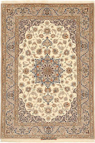 Isfahan Silk Warp Signed: Hakimi Rug 110X163 Authentic  Oriental Handknotted Light Brown/Beige (Wool/Silk, Persia/Iran)