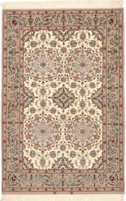 Isfahan Silkkiloimi Matto 108X165 Itämainen Käsinsolmittu Vaaleanruskea/Beige (Villa/Silkki, Persia/Iran)