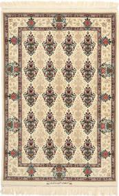 Isfahan Seidenkette Signatur: Hossein Davari Teppich 97X150 Echter Orientalischer Handgeknüpfter Beige/Hellbraun (Wolle/Seide, Persien/Iran)