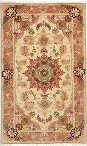 Tabriz 50 Raj Avec De La Soie Tapis 73X121 D'orient Fait Main Marron Clair/Beige Foncé (Laine/Soie, Perse/Iran)