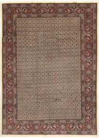 Moud Sherkat Farsh Rug 203X283 Authentic  Oriental Handknotted Light Brown/Dark Brown (Wool/Silk, Persia/Iran)
