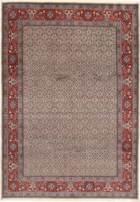 Moud Sherkate Farsh Rug 207X295 Authentic  Oriental Handknotted Light Brown/Brown (Wool/Silk, Persia/Iran)