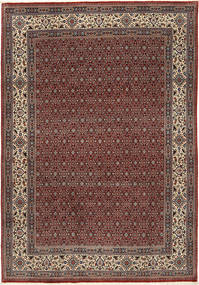 Moud Sherkat Farsh Teppe 201X292 Ekte Orientalsk Håndknyttet Mørk Rød/Mørk Grå (Ull/Silke, Persia/Iran)