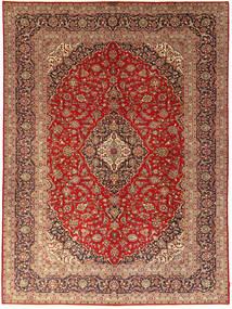 Keshan Matta 301X405 Äkta Orientalisk Handknuten Ljusbrun/Mörkröd Stor (Ull, Persien/Iran)