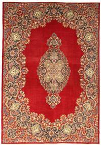 Kerman Patina Vloerkleed 269X388 Echt Oosters Handgeknoopt Lichtbruin/Roestkleur/Donkerrood Groot (Wol, Perzië/Iran)
