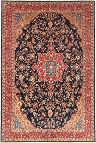 ハマダン シャフバフ 絨毯 257X395 オリエンタル 手織り 濃いグレー/深紅色の 大きな (ウール, ペルシャ/イラン)
