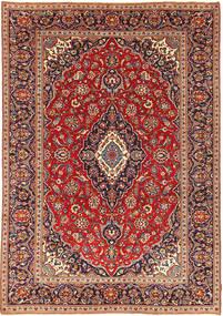 カシャン パティナ 絨毯 237X339 オリエンタル 手織り 茶/濃い紫 (ウール, ペルシャ/イラン)