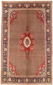 Koliai Tæppe 198X323 Ægte Orientalsk Håndknyttet Mørkebrun/Mørkerød (Uld, Persien/Iran)
