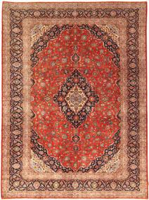 Keshan Rug 302X414 Authentic  Oriental Handknotted Rust Red/Dark Brown Large (Wool, Persia/Iran)