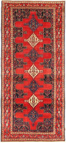 Senneh Matto 130X305 Itämainen Käsinsolmittu Käytävämatto Oranssi/Ruskea (Villa, Persia/Iran)