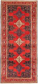 Senneh Rug 130X305 Authentic  Oriental Handknotted Hallway Runner  Orange/Brown (Wool, Persia/Iran)