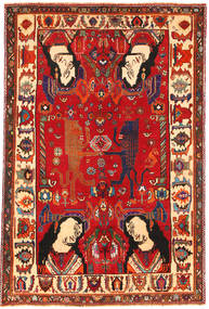 Ghashgai Figuratief/Geïllustreerd Vloerkleed 153X235 Echt Oosters Handgeknoopt Roestkleur/Donkerrood (Wol, Perzië/Iran)