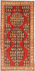 Azari Patina Rug 134X286 Authentic  Oriental Handknotted Rust Red/Dark Brown (Wool, Persia/Iran)