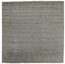 Handloom Fringes - Dark Grey Rug 300X300 Modern Square Dark Grey Large (Wool, India)