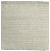 Handloom Fringes - Grey/Light Green Rug 250X250 Modern Square Light Grey/Pastel Green Large (Wool, India)