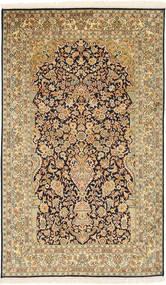 Cachemire Pure Soie Tapis 94X157 D'orient Fait Main Marron Clair/Beige Foncé (Soie, Inde)