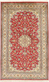 Kashmir Ren Silke Teppe 94X156 Ekte Orientalsk Håndknyttet Brun/Lysbrun (Silke, India)