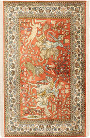 Kaschmir Reine Seide figurativ Teppich MSA417