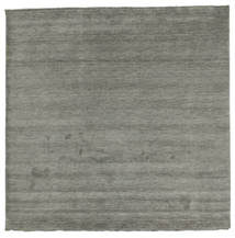 Handloom Fringes - Dark Grey Rug 250X250 Modern Square Dark Grey Large (Wool, India)