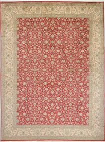 Kashmir Pură Mătase Covor 246X332 Orientale Lucrat Manual Maro Deschis (Mătase, India)