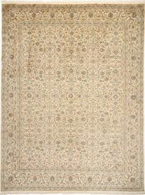 カシミール ピュア シルク 絨毯 271X361 オリエンタル 手織り 薄茶色/ベージュ 大きな (絹, インド)