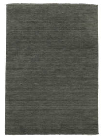 Handloom Fringes - Dark Grey Rug 160X230 Modern Dark Grey/Light Grey (Wool, India)