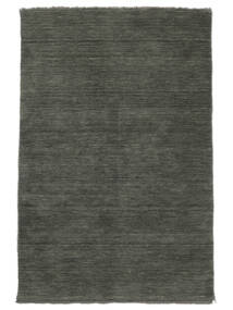Handloom Fringes - Dark Grey Rug 140X200 Modern Dark Grey (Wool, India)