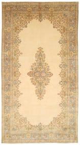 Kerman Teppe 317X595 Ekte Orientalsk Håndknyttet Lysbrun/Mørk Beige Stort (Ull, Persia/Iran)