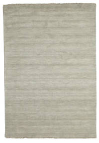 Handloom Fringes - Grey/Light Green Rug 160X230 Modern Pastel Green/Light Grey (Wool, India)
