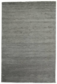 Handloom Fringes - Dark Grey Rug 220X320 Modern Dark Grey/Light Grey (Wool, India)