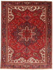 Heriz Dywan 293X390 Orientalny Tkany Ręcznie Ciemnoczerwony/Rdzawy/Czerwony Duży (Wełna, Persja/Iran)