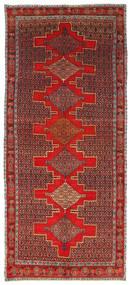 Senneh Teppe 120X293 Ekte Orientalsk Håndknyttet Teppeløpere Mørk Rød/Rust (Ull, Persia/Iran)