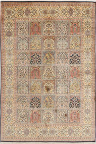 Kashmir pure silk carpet MSA245