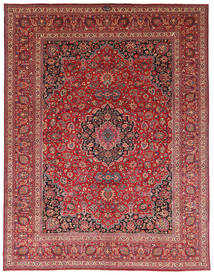 Mashad Antik Signed: Saber Rug 344X450 Authentic Oriental Handknotted Brown/Dark Red Large (Wool, Persia/Iran)