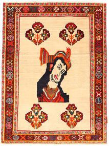 Ghashghai Matto 100X135 Itämainen Käsinsolmittu Tummanbeige/Tummanruskea (Villa, Persia/Iran)