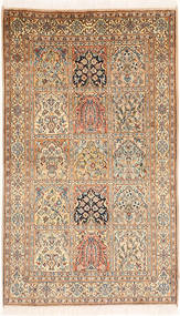 Kashmir pure silk carpet MSA418