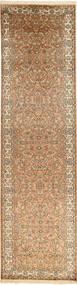 Kashmir Pure Silke Tæppe 81X311 Ægte Orientalsk Håndknyttet Tæppeløber Lysebrun/Brun (Silke, Indien)
