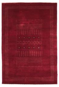 Gabbeh Loribaft Matto 121X180 Moderni Käsinsolmittu Tummanpunainen/Punainen (Villa, Intia)