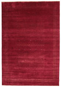 Gabbeh Loribaft Rug 196X285 Authentic  Modern Handknotted Crimson Red/Dark Red (Wool, India)