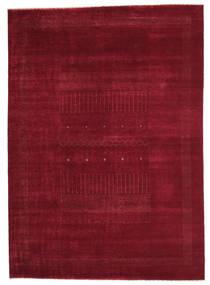 Gabbeh Loribaft Szőnyeg 200X282 Modern Csomózású Sötétpiros (Gyapjú, India)