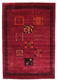 Gabbeh Loribaft Rug 152X219 Authentic  Modern Handknotted Dark Red/Crimson Red (Wool, India)