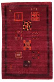 Gabbeh Loribaft Alfombra 148X228 Moderna Hecha A Mano Rojo Oscuro/Roja (Lana, India)