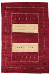 Gabbeh Loribaft Rug 150X222 Authentic  Modern Handknotted Dark Red/Crimson Red (Wool, India)