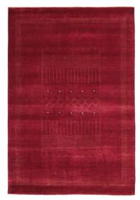Gabbeh Loribaft Rug 148X222 Authentic  Modern Handknotted Crimson Red/Dark Red (Wool, India)