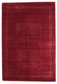 Gabbeh Loribaft Rug 150X224 Authentic  Modern Handknotted Dark Red/Crimson Red (Wool, India)