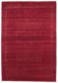 Gabbeh Loribaft Matto 152X222 Moderni Käsinsolmittu Punainen/Tummanpunainen (Villa, Intia)