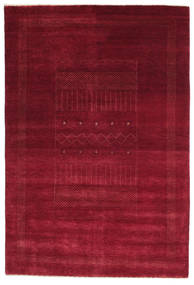 Gabbeh Loribaft Alfombra 150X223 Moderna Hecha A Mano Rojo Oscuro/Roja (Lana, India)